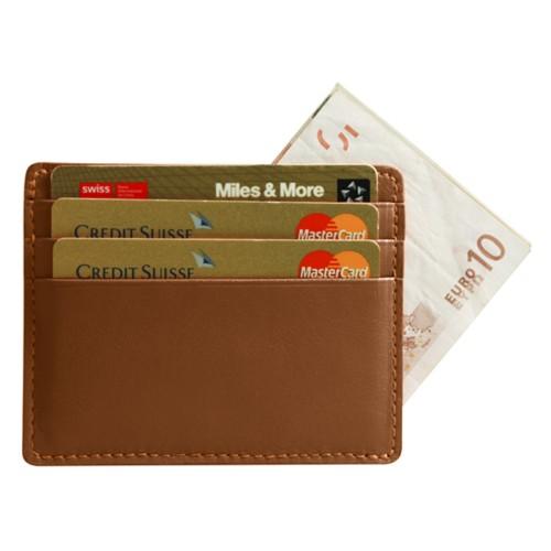 Etui simple pour cartes et billets