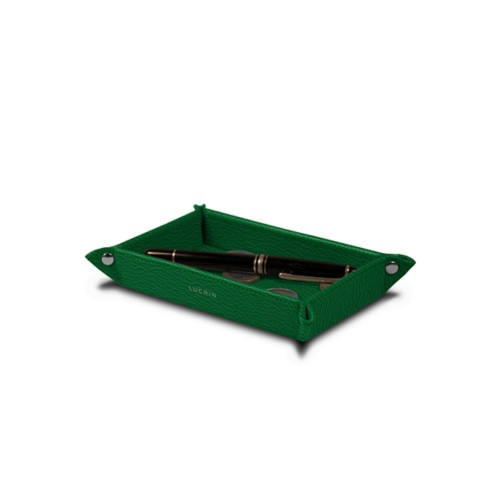 Small rectangular tidy tray (5.5 x 3.1 x 1 inches) - Light Green - Goat Leather