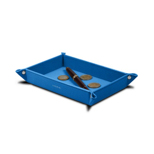 Rectangular tidy tray (21 x 15 x 2.5 cm) - Royal Blue - Goat Leather