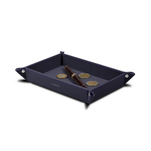 Rectangular tidy tray (6.7 x 4.3 x 1.2 inches) - Purple - Smooth Leather