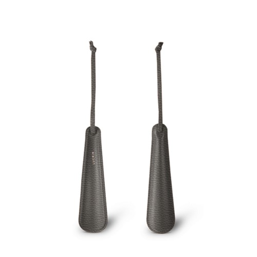 Small shoe-horn - Dark Grey - Granulated Leather
