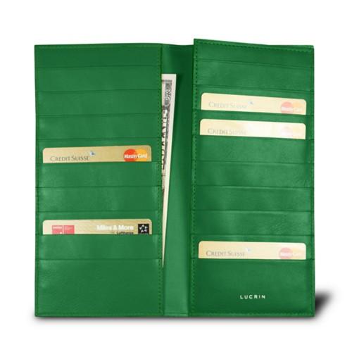 Etui für Visitenkarten - Hellgrün - Glattleder