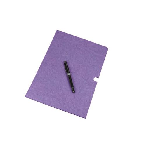 A4 Documentenhoes - Lavendel - Korrelig Leer