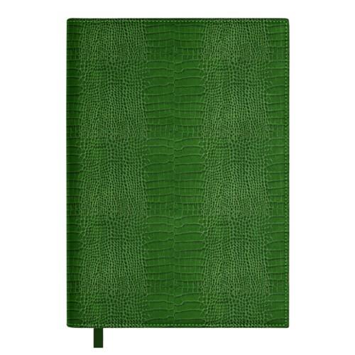 Big visitors book - Light Green - Crocodile style calfskin