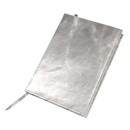 Big visitors book - Silver - Metallic Leather
