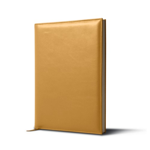 Big visitors book - Mustard Yellow - Smooth Leather
