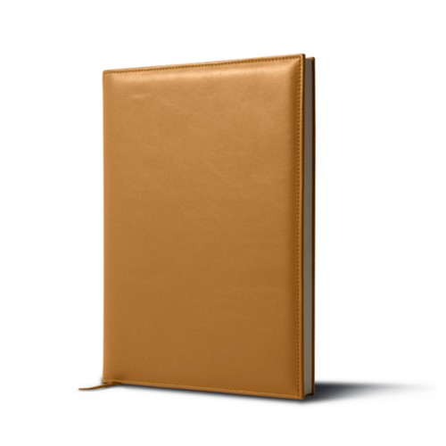 Big visitors book - Natural - Smooth Leather