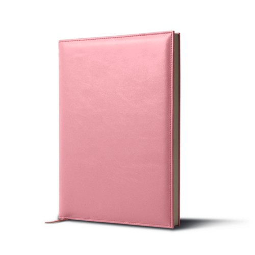 Big visitors book - Pink - Smooth Leather