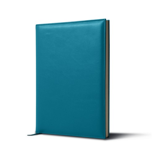 Visitors book - Turquoise - Smooth Leather