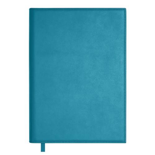 Libro de oro grande - Azul turqués - Piel Liso