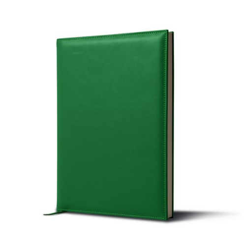 Big visitors book - Light Green - Smooth Leather