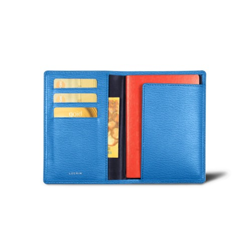 Passport and loyalty cards holder - Royal Blue - Goat Leather