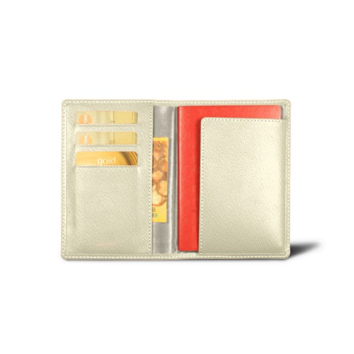 Passport and loyalty cards holder - Off-White - Goat Leather