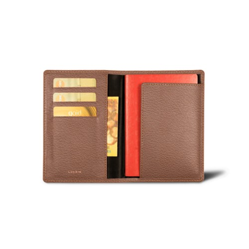 Passport and loyalty cards holder - Tan - Goat Leather