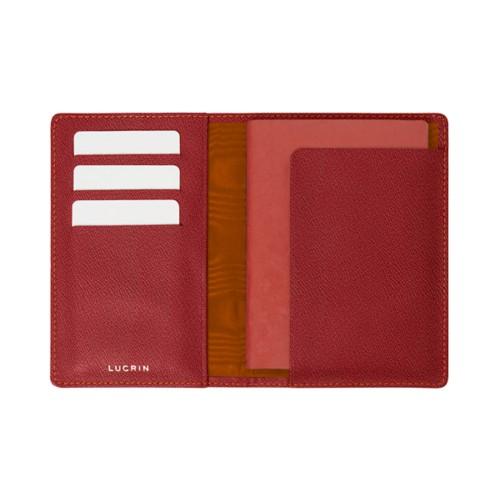 Reisepass und Treue Kartenhalter - Rosa Lachs - Ziegenleder