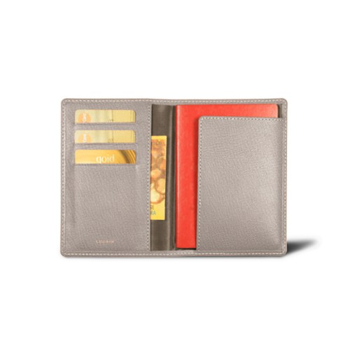 Passport and Loyalty Card Holder - Light Taupe - Goat Leather
