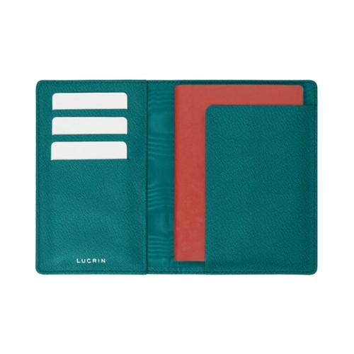 Reisepass und Treue Kartenhalter - Ozeangrün - Ziegenleder