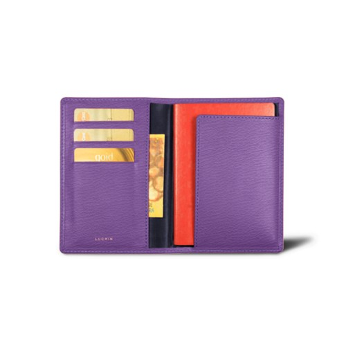 Passport and loyalty cards holder - Purple - Goat Leather