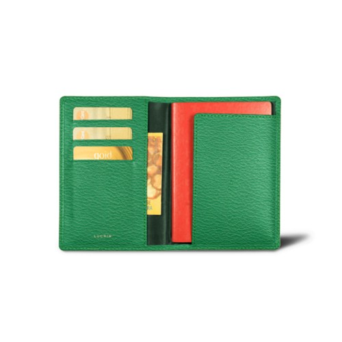Passport and loyalty cards holder - Light Green - Goat Leather
