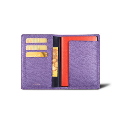 Australian Passport and loyalty cards holder - Lavender - Granulated Leather