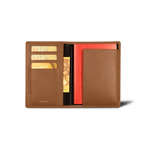Passport and loyalty cards holder - Tan - Smooth Leather