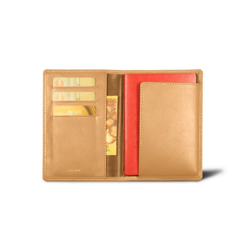 Passport and loyalty cards holder - Natural - Smooth Leather