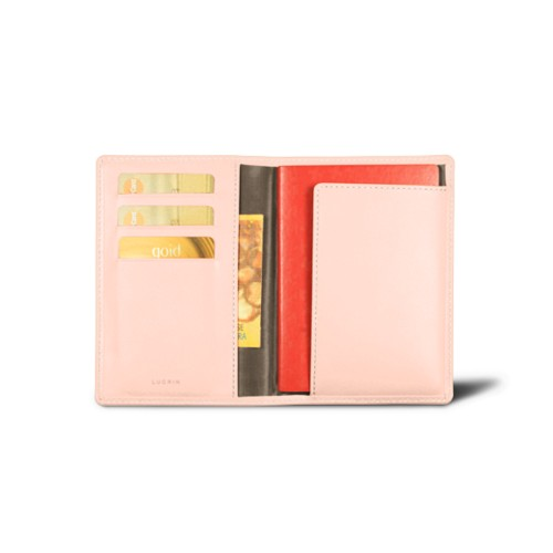 Passport and loyalty cards holder - Nude - Smooth Leather