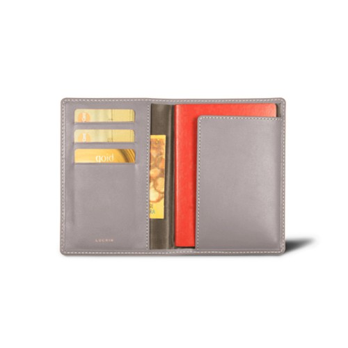 Passport and loyalty cards holder - Light Taupe - Smooth Leather