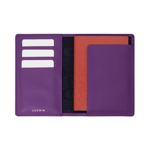 Reisepass und Treue Kartenhalter - Lavendel - Glattleder