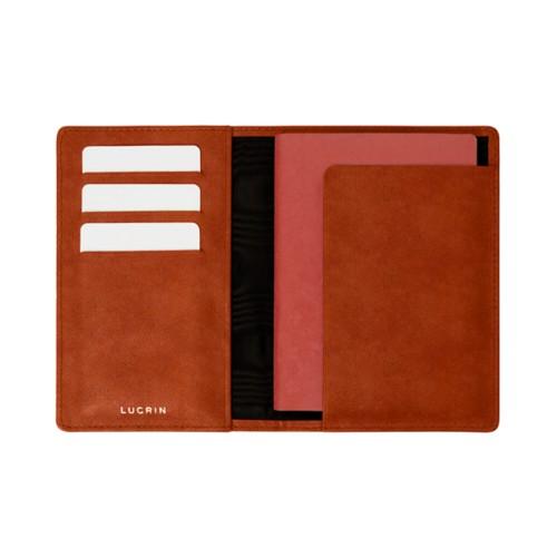 Étui passeport et carte de fidélité - Cognac - Cuir végétal