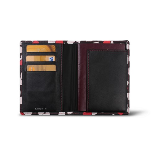 Passport and loyalty cards holder - Heart - Safiano