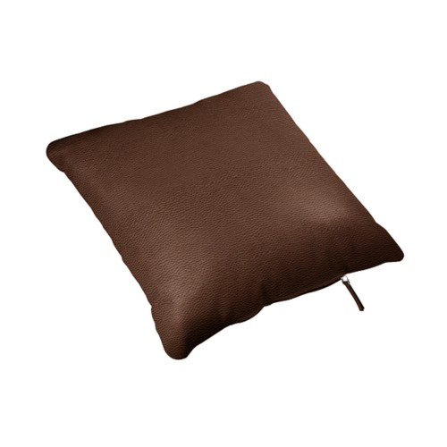 Square cushion (40 x 40 cm) - Dark Brown - Granulated Leather