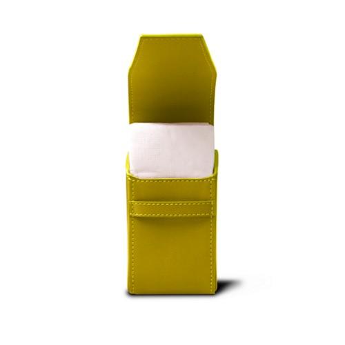 Pochette mouchoirs de poche - Citron - Cuir de Chèvre