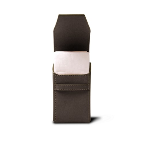 Tissues pouch - Dark Taupe - Goat Leather