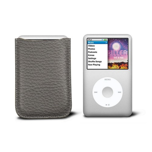 Case for  Ipod Classic - Mouse-Grey - Granulated Leather