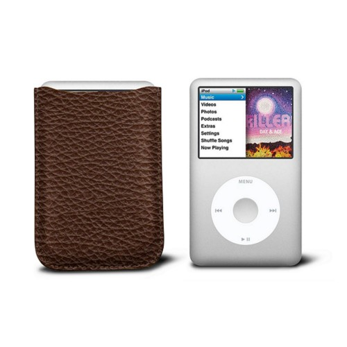 Case for  Ipod Classic - Brown - Granulated Leather