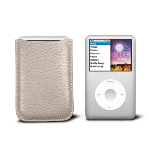Case for  Ipod Classic - Light Taupe - Granulated Leather