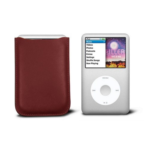 Case for  Ipod Classic - Burgundy - Smooth Leather