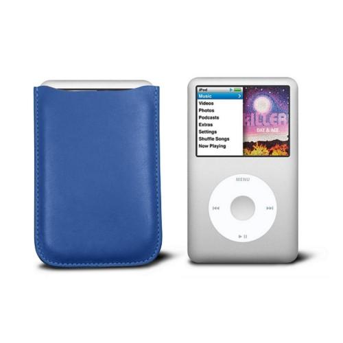 Etui Ipod Classic - Azurblau  - Glattleder