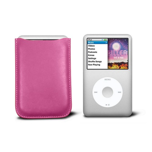 Case for  Ipod Classic - Fuchsia  - Smooth Leather