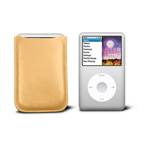 Case for  Ipod Classic - Yellow - Smooth Leather