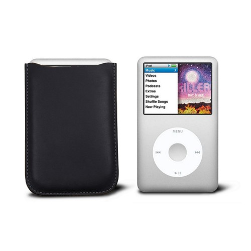 Case for  Ipod Classic - Black - Smooth Leather