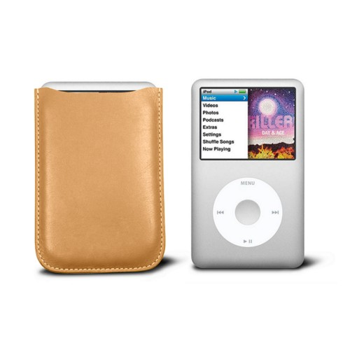 Case for  Ipod Classic - Natural - Smooth Leather