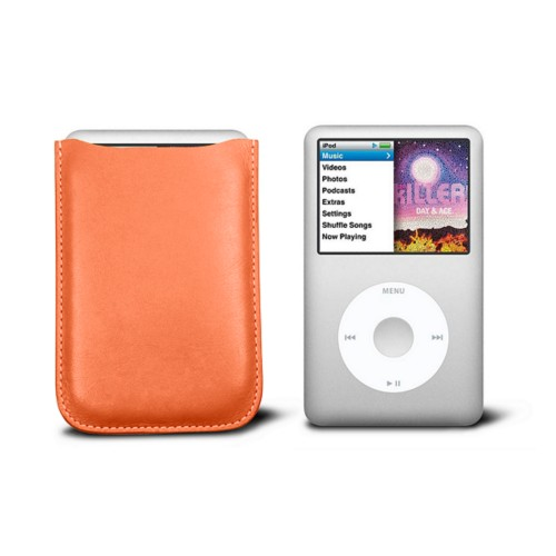 Case for  Ipod Classic - Orange - Smooth Leather