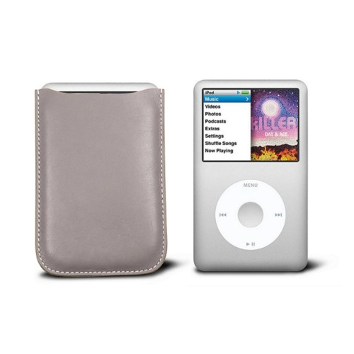 Case for  Ipod Classic - Light Taupe - Smooth Leather