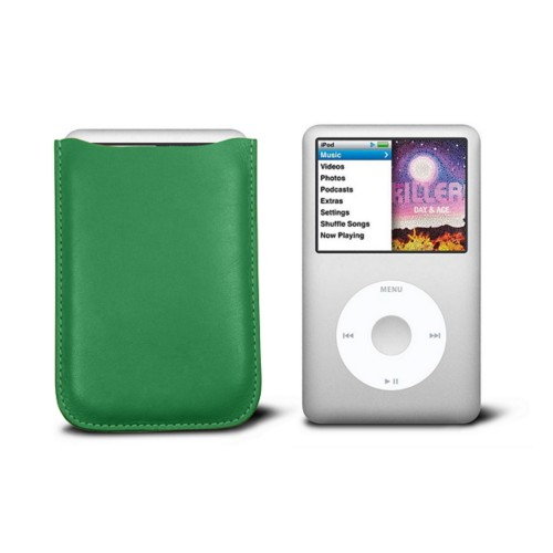 Case for  Ipod Classic - Light Green - Smooth Leather