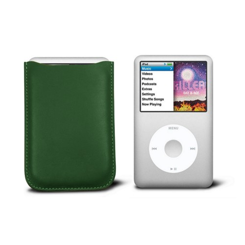 Case for  Ipod Classic - Dark Green - Smooth Leather