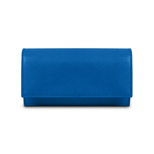 Women's wallet - Royal Blue - Goat Leather