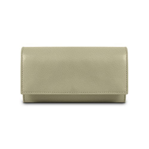 Women's wallet - Off-White-Mouse-Grey - Goat Leather