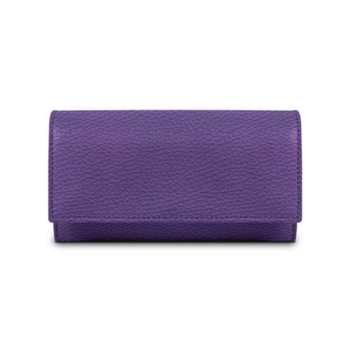 Women's wallet - Lavender - Granulated Leather